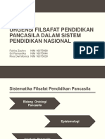 Kelompok 13 Urgensi Filsafat Pendidikan Pancasila Dalam Sistem Pendidikan Nasional.pptx