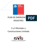 Plan de emergencia y desastres.