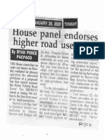 Peoples Tonight, Jan. 28, 2020, House panel endorses higher road users tax.pdf