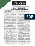 Philippine Daily Inquirer, Jan. 28, 2020, Senate wont intervene on DU30 plan to terminate VFA.pdf