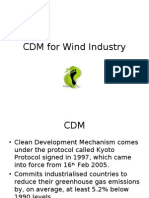 CDM for Wind Industry