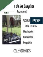 CASA DE LOS SUSPIROS