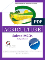 Solved MCQs of Agriculture 2001 to 2013