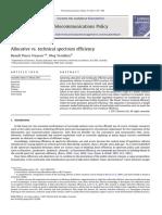 Allocative vs. technical spectrum efficiency