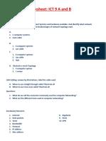 Networking Worksheet