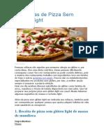 5 Receitas de Pizza Sem Glúten Light