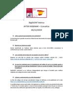 AFTER WEBINAR - Consultas y presentación