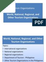 World, International, Regional, National Tourism Organization