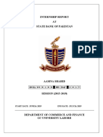 Internship Report of State Bank of Pakistan Karachi
