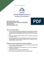 APMCHUD Bureau Meeting Info Mat Ion Note