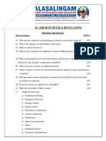 Short questions and answers AER18R306