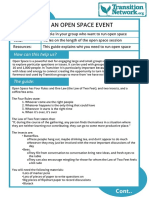 How to run an Open Space event