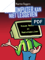 Scriptie Maarten Raggers Een computer kan niet lesgeven