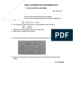 EC409Control Systemss I series Sept'18  QP & Key