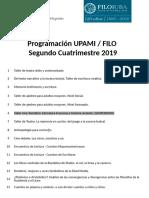 Programación UPAMI FILO - 2do Cuatrimestre 2019 (2)
