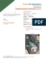 Segregación incorrecta de residuos Reporte Evento No Significativo  17-01-20