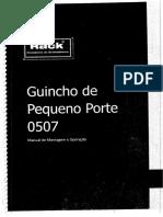 Manual de Montagem e Operação de mini grua Rack 0507