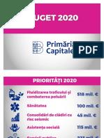 Bugetul PMP pentru 2020