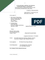 Kusuum Chadha Ahuja-CP (IB) 105 chd hry 2019 moratorium irp  kussum chadha ahuja & ors. vs. c&c towers ltd. (1)