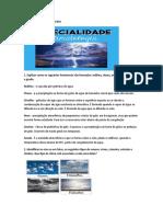 Documento ESPECIALIDADE CLIMATICA