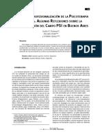 Korman et al 2010 Origenes y Profesionalizacion de la Psicoterapia en Argentina