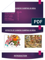 EFFECTS OF CHINESE DUMPING IN INDIA PPT SEM5 GRP NO. 6.pptx