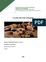 cerealele din franta si romania