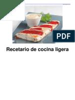 Recetario de Cocina Ligera