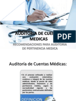 Recomendaciones Para Auditoria de Pertinencia Medica