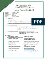 Detailed lesson plan REALITY VS. FANTASY COT