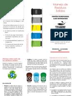 folleto RESIDUOS SOLIDOS