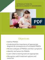 Perinatal Mood Disorder Presentation