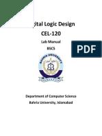 DLD CEL-120 Lab Manual