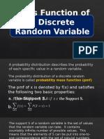 2. Mass Function of a Discrete Random Variable