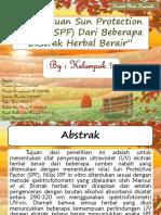 Penentuan Sun Protection Factor (SPF)