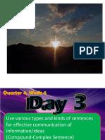 COMPOUND-COMPLEX SENTENCE q4 w6