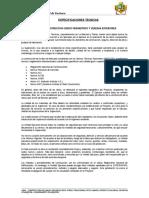I.-Especif Técnicas Cerco Perimetrico y Veredas
