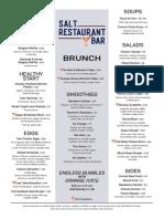 Salt Restaurant & Bar Brunch Menu