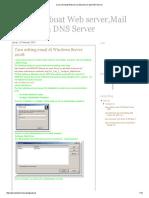 Cara membuat Web server,Mail Server,dan DNS Server