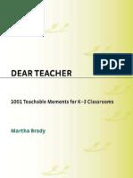Dear Teacher--1001 Teachable Moments for K-3 Classrooms