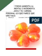 OPALO DE FUEGO AUMENTA LA ENERGÍA MENTAL E INCREMENTA LA CONFIANZA Y EL CARISMA PERSONAL