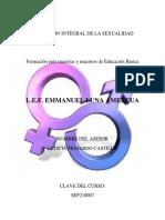 EDUCACION INTEGRAL DE LA SEXUALIDAD