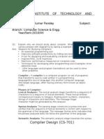 Compiler Design Assignment