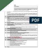 ISMS Checklist