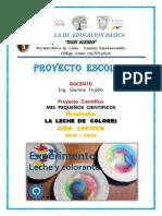 PROYECTO     LECHE  DE  COLORES