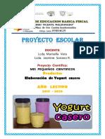 PROYECTO     CENTIFICO   ELABORACION  DE  YOGURT   CASERO  PEDRO VICENTE  MALDONADO