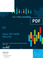 Cisco SD-WAN Security BRKRST-2377