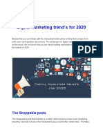 Digital Marketing Trend's for 2020