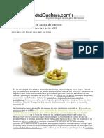 Aceitunas Verdes en Aceite de Cítricos Con Thermomix