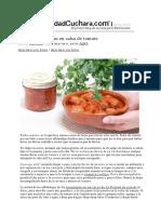 Albóndigas Caseras en Salsa de Tomate Con Thermomix